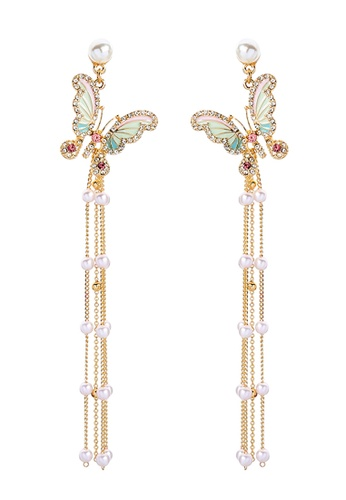 Sunnydaysweety gold Butterfly Earring C071501 77854ACCBF22EEGS_1