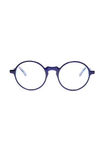 藍色鏡esprit 高雄框│復古圓框眼鏡│K1051-C0, 飾品配件, 眼鏡