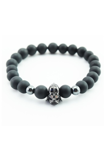 Memento Collection black Signature Black Stone Bracelet with Star War Detailed ME060AC35HFGMY_1