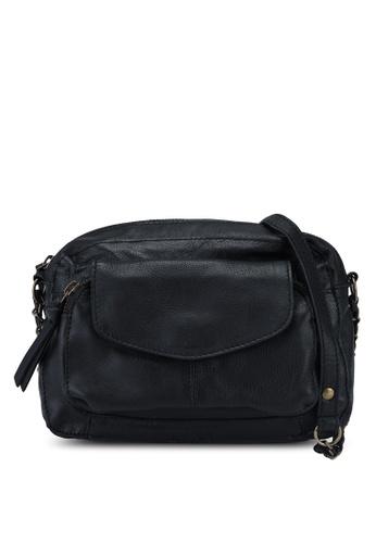 Pieces black Naina Leather Crossbody Bag D3310AC942A156GS_1