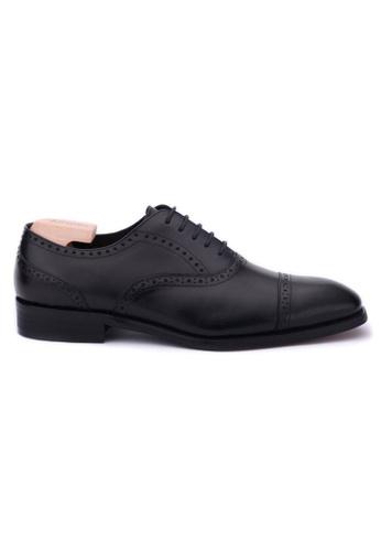Earnest & Collective black Preston II Black Semi-brogue Oxford 90A22SH1474D4AGS_1