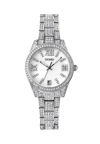 Fashion by Latest Gadget silver SKMEI 1741 Rhinestone Mosaic Wrist Watch For Women F6F76AC8C40137GS_1