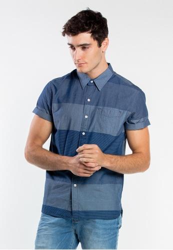 Levi's blue Levi's Short Sleeve Sunset One Pocket Shirt 5D493AA52257D4GS_1