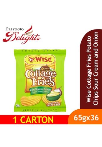 Prestigio Delights Wise Cottage Fries Potato Chips Sour Cream and Onion 65g x 36 Packs (1 Carton) F6771ES1A2A59DGS_1