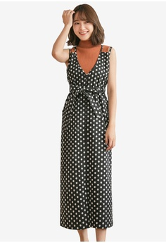 Tokichoi black Polka Dot Pinafore Dress EF439AA1683217GS 1 61ab400509