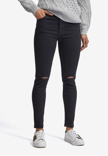 Dorothy Perkins black Petite Black Rip Alex Jeans 988B9AA51ABAB0GS_1