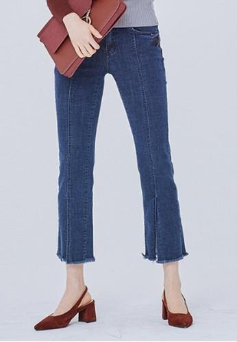 裁剪細zalora taiwan 時尚購物網節牛仔褲, 服飾, 多色牛仔褲