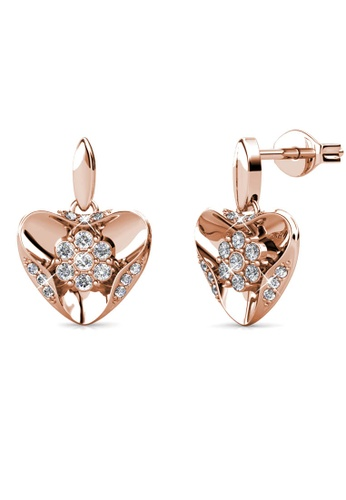 Her Jewellery gold Gusto Earrings (Rose Gold) -  Embellished with Crystals from Swarovski® 0A580ACE121997GS_1