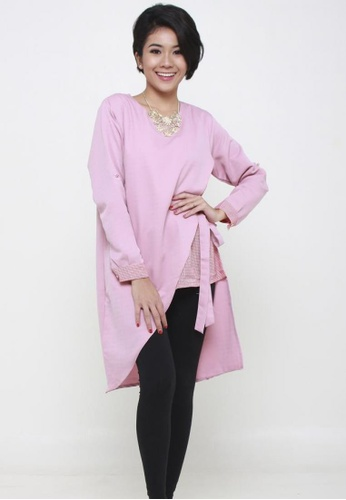 Naphthys Collection pink Sonia Asymmetrical Top NA003AA94BTXSG_1