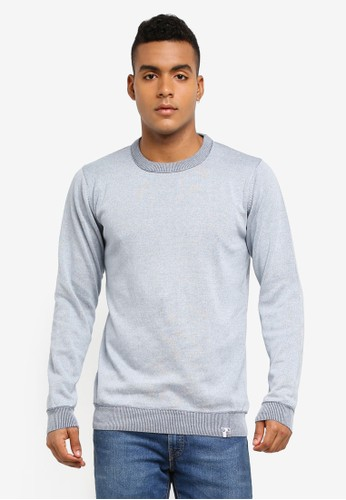 Indicode Jeans blue Florian Knitted Cotton Sweater 32547AA5503D96GS_1