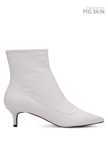 Free People white Marilyn Kitten Heel Boots FR659SH0S3NLMY_1