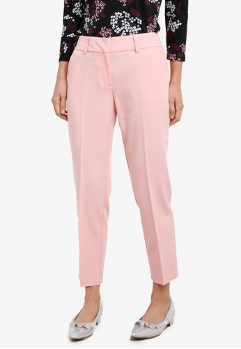 Dorothy Perkins pink Blush Split Hem Ankle Grazer Pants DO816AA0S7BIMY_1