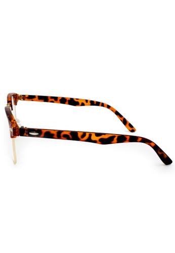 693c804a51c0 Buy Elitrend Unisex Half Frame Designer Glasses in Leopard Brown Online on ZALORA  Singapore