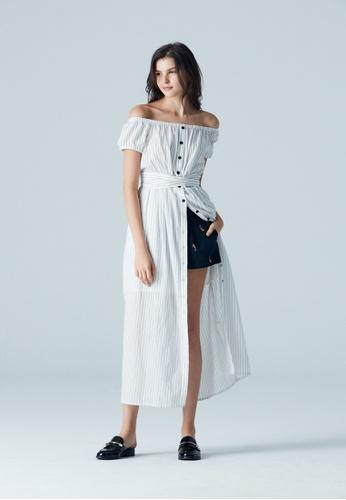 iROO multi Striped Dress EF6E8AA9CD311AGS_1