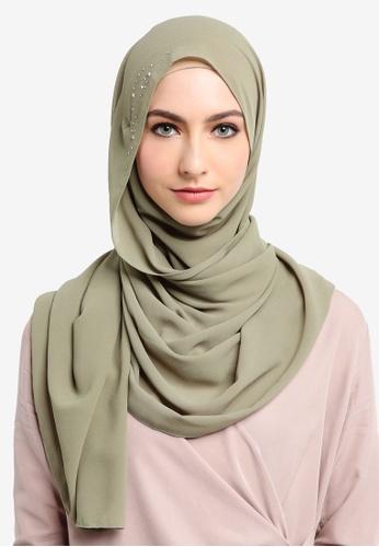 Najjah green Myra Instant Shawl 76747AA2265845GS_1
