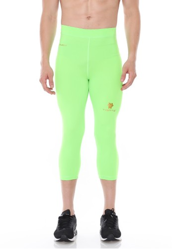Jual Tiento Tiento Man Compression 3 4 Pants Green Stabilo Celana Legging Leging Lejing Sebetis Pria Olahraga Lari Sepakbola Renang Original Zalora Indonesia