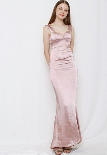 Bridesy pink and multi and n/a and bronze 2 Ways Style Long Bridesmaid Dress Rose Gold 9E151AA429C504GS_1