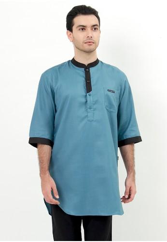 NextUp green Baju Koko Kurta Nextup Lengan 3/4 1267 - Green Tosca 93334AADD9AEA0GS_1