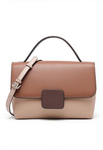 Twenty Eight Shoes brown VANSA Color Matching Top Layer Cowhide Hand Bag VBW-Hb7847 C0BB1AC6F5E950GS_1
