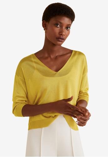Mango yellow Fine Knit Sweater AC2DCAAD740B5FGS_1