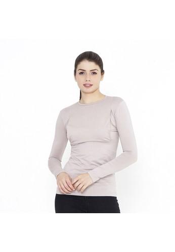 Mamibelle Nursingwear beige Mamibelle Mira Khaki Baju Hamil & Menyusui Inner Spandex Premium 32854AAB68554EGS_1