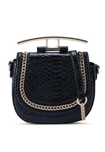 Dorothy Perkins black Black Metal Handle Saddle Bag 80D92ACE5AEB48GS_1