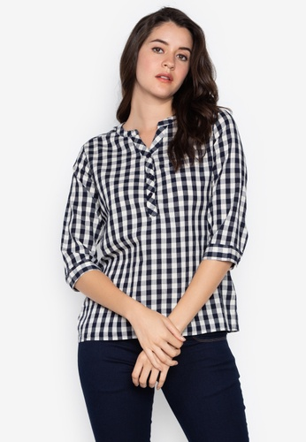 207296b26 Wrangler black and white Checkered Shirt With Chest Pocket  9D5CAAA7A9BC91GS 1