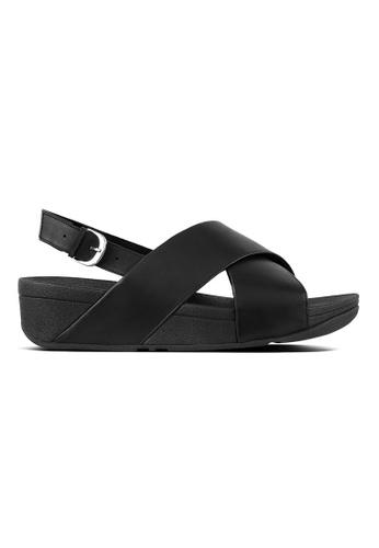 8e07efe21 Fitflop black Lulu Cross Back-Strap Sandals-Leather 02FF4SHEF01764GS 1