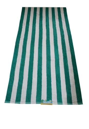 Martel green Martel Beach Towel Stripes E8F34HL507183AGS_1