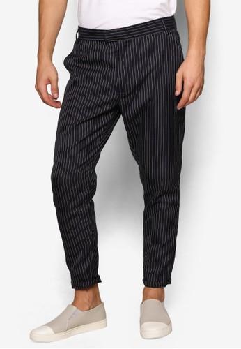 細條紋休閒風長褲,esprit retail 服飾, 長褲