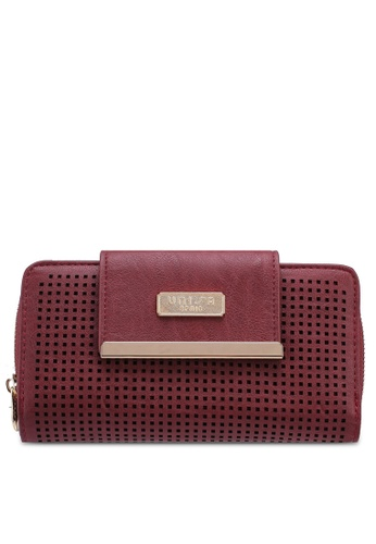 4e98b687b4 Unisa red Perforated Facile Ladies Zip-Up Clutch Wallet EEA0EAC2073A19GS 1