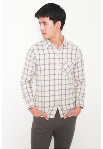 DENIZEN beige DENIZEN Men's Long Sleeve Casual Shirt - Beige 274C9AA328E7ACGS_1