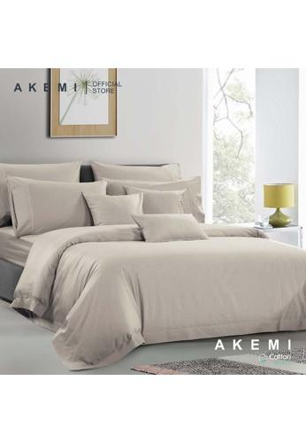 AKEMI brown AKEMI Cotton Select Affinity - Sage Box Latte (Fitted Sheet Set) 1069CHLA385F63GS_1