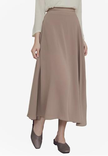 Yoco beige Midi Wrap Skirt 117F3AA3407D94GS_1