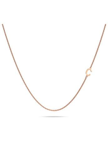 Bullion Gold gold BULLION GOLD Bold Alphabet Letter Initial Charm Necklace in Rose Gold Tone - C C6E10AC06CCDCDGS_1