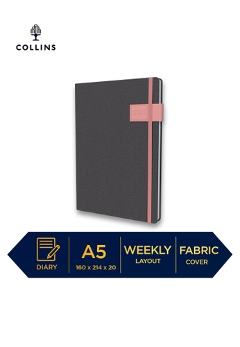 Collins pink Collins GAIA ─ 2021 Calendar Year Diary ─ Pink ─ A5 Week to View 70C41HLDE1E8A1GS_1