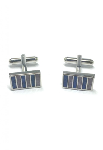 Splice Cufflinks blue and purple Colourful Columns Rectangular Cufflinks 3 SP744AC95FTWSG_1