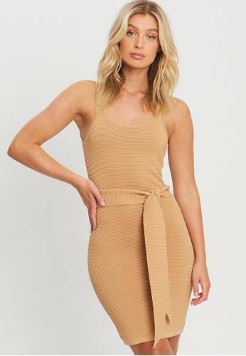 BWLDR brown Nova Knit Dress A870CAA52562A8GS_1