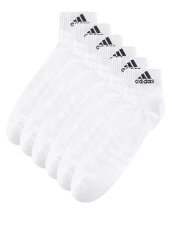 b9888c565 adidas white adidas 3-stripes performance ankle socks 3 pairs  AD349AC49DQKID_1