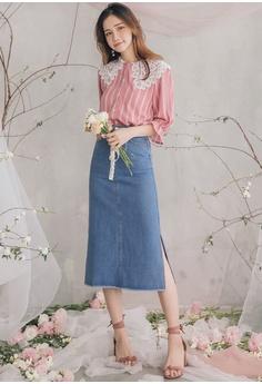 f952171b2c 13% OFF Yoco Denim Midi Pencil Skirt S$ 54.90 NOW S$ 47.90 Sizes S M L