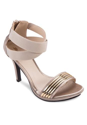 URSULA 金屬一字帶高跟鞋, 女鞋,esprit旗艦店 鞋
