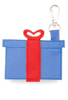 Gift Box Blue Keychain/Bag Charm