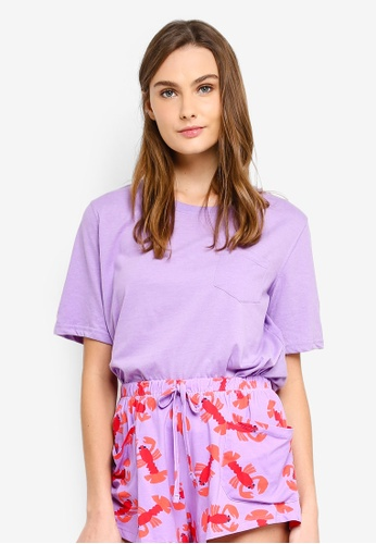 Cotton On Body purple Boxy T-Shirt 6385DAA12D5DDBGS_1