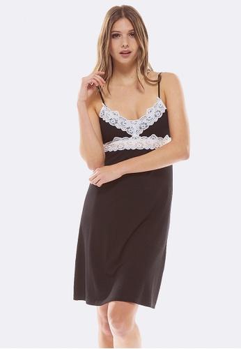 Deshabille black Essential Night Dress DB1ECAAD6CA3C7GS_1