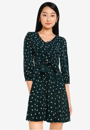 ZALORA BASICS multi Drawstring Waist Dress D0CB4AA5CE160EGS_1