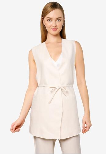 Mango beige Wrapped Cotton Vest 07E2FAAF98C7F5GS_1