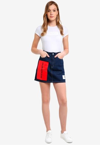 Calvin Klein white Short Sleeve Institut Logo Tee - Calvin Klein Jeans BFCD6AA6838731GS_1