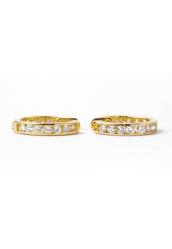 CEBUANA LHUILLIER JEWELRY gold 14 Karat Yellow Gold With Diamonds Earrings BA04FACBD6FDBAGS_1