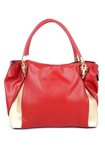 BELLE LIZ red Ladies Large Handbag PU Crossbody Bag Red 544BBACB16BD45GS_1