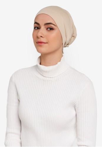 Hijabii brown Naia Tie Back Snowcap in Khaki CE18FAAD07B349GS_1